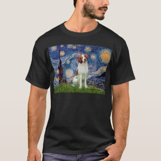 Brittany Spaniel 3 - Starry Night T-Shirt