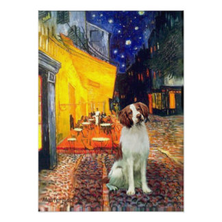 Brittany Spaniel 3 - Terrace Cafe Poster