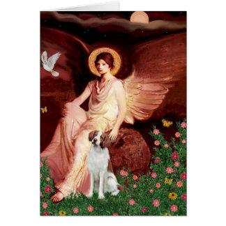 Brittany Spaniel 3b - Seated Angel Card