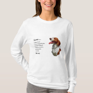 Brittany Spaniel Art Gifts T-Shirt
