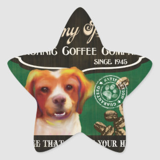 Brittany Spaniel Brand – Organic Coffee Company Stickers