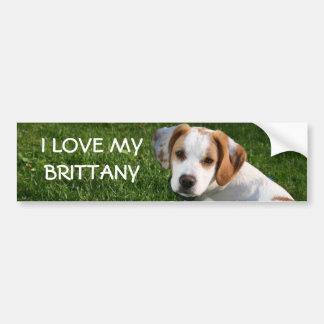 Brittany Spaniel Bumper Sticker, I LOVE MY BRIT... Bumper Sticker