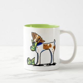 Brittany Spaniel Camouflage Boots Two-Tone Mug