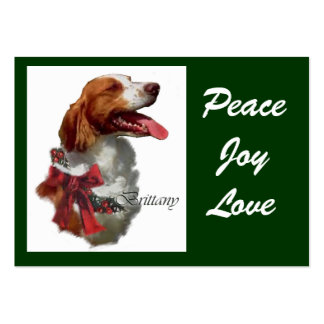 Brittany Spaniel Christmas Gifts Pack Of Chubby Business Cards