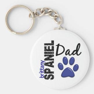 Brittany Spaniel Dad 2 Key Ring
