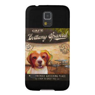 Brittany Spaniel Dog Art Poster–I Run To Greet You Galaxy S5 Covers