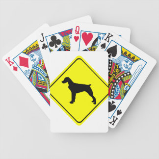 Brittany Spaniel Dog Caution or Crossing Sign Bicycle Poker Deck