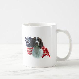 Brittany Spaniel Flag Coffee Mug