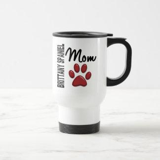 Brittany Spaniel Mom 2 15 Oz Stainless Steel Travel Mug