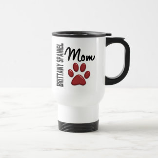 Brittany Spaniel Mom 2 Stainless Steel Travel Mug