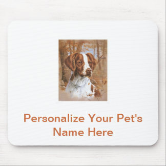Brittany Spaniel Mouse Mat