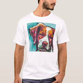 Brittany Spaniel Pop Art T Shirt