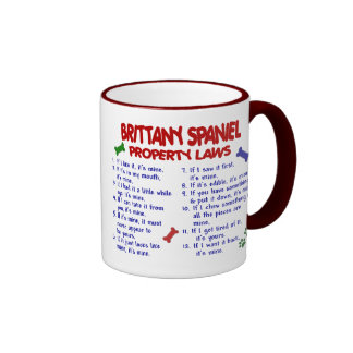 BRITTANY SPANIEL Property Laws 2 Coffee Mugs