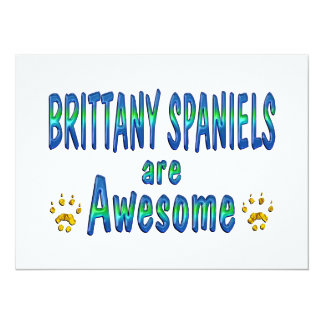 Brittany Spaniels are Awesome Personalized Announcements