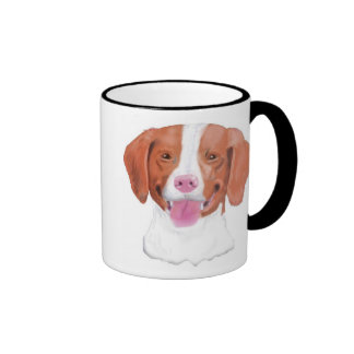 Brittany Spaniels, Shedding Joy... Ringer Mug