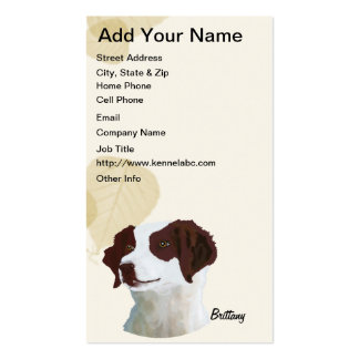 Brittany ~ Tan Leaves Motiff Pack Of Standard Business Cards