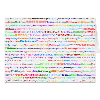 Brittany Text Design II Greeting Card Horizontal