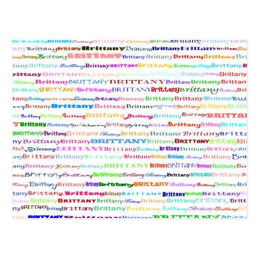 Brittany Text Design II Postcard