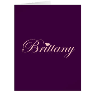 Brittany with a Heart Large Greeting Card