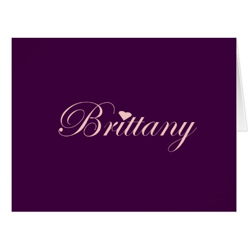 Brittany with a Heart Card