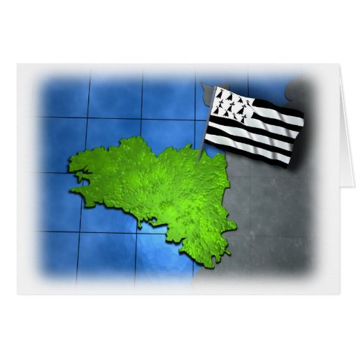 Brittany with its own flag cards