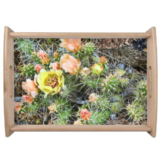 BRITTLE PRICKLY-PEAR CACTUS SERVING TRAY