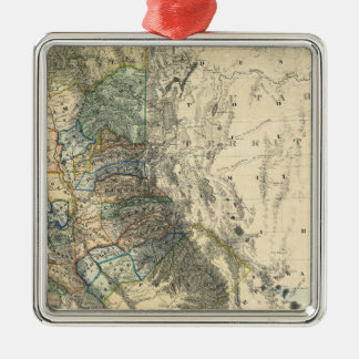 Britton and Rey's Map of California Silver-Colored Square Decoration