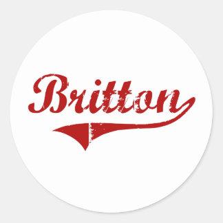 Britton South Dakota Classic Design Sticker