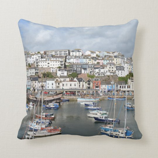 Brixham, Devon, England Throw Cushion/Pillow Cushion