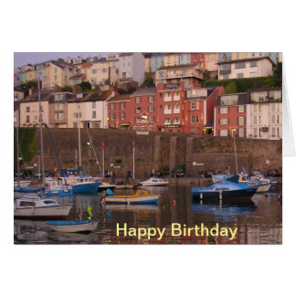 Brixham Harbour Birthday Card