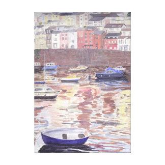 Brixham Harbour Stretched Canvas Prints