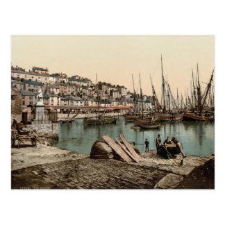 Brixham Harbour, Devon c.1895 Postcard