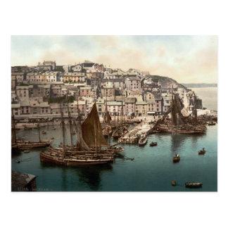 Brixham Harbour, Devon, England c.1895 Postcard