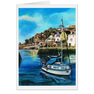 Brixham harbour, South Devon Greeting Card