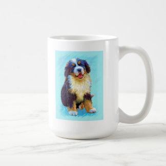 brnese mountain dog basic white mug