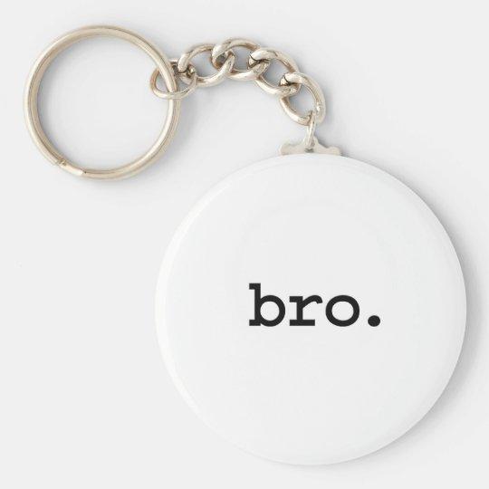 bro. basic round button key ring