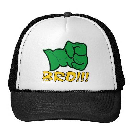 Bro Big Green Fist Mesh Hats