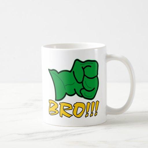Bro Big Green Fist Coffee Mugs