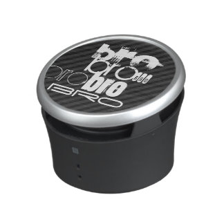 Bro; Black & Dark Gray Stripes Bluetooth Speaker