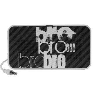 Bro; Black & Dark Gray Stripes Notebook Speaker
