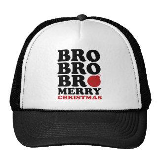 Bro Bro Bro Merry Christmas Trucker Hats