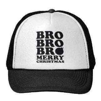 Bro Bro Bro Merry Christmas Mesh Hat