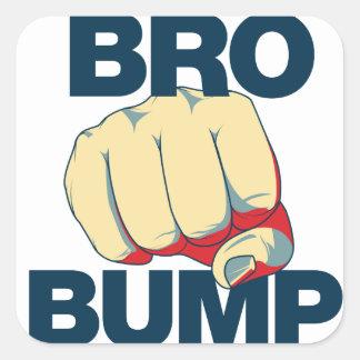 Bro Bump Funny mens Square Sticker