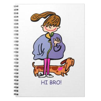 bro diary girl cartoon notebook
