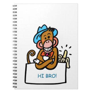 bro diary monkey cartoon notebook