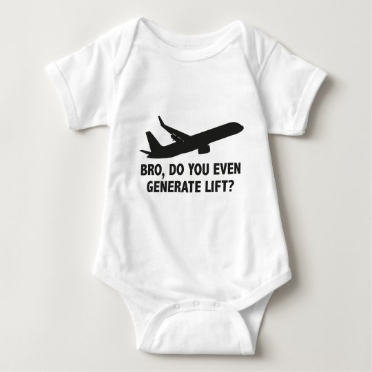 Bro, Do You Even Generate Lift? Baby Bodysuit