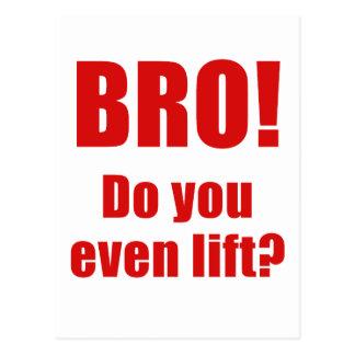 Bro Do You Even Lift Postcard