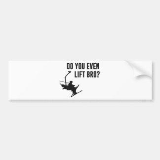 Bro, Do You Even Ski Lift? Bumper Sticker