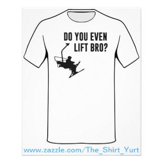 Bro, Do You Even Ski Lift? 11.5 Cm X 14 Cm Flyer