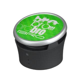 Bro; Neon Green Stripes Speaker